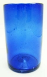 Tumbler Glass, 16 oz. Solid Cobalt<br>Hand blown glass from Mexico